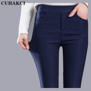 Tople podložene hlače, ženske, žametna podlaga