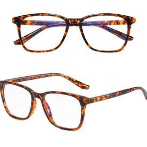 Očala za blokiranje modre svetlobe rjava, turtoise shell brown
