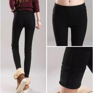 Tople podložene hlače, več položajev