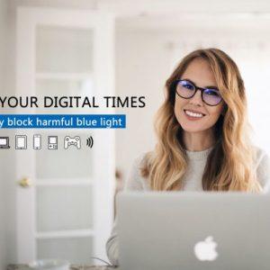 Očala za blokiranje modre svetlobe, okroglasta oblika