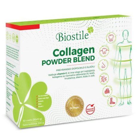 Collagen Powder Blend, hidrolizirani kolagen iz petih virov pomaga pri obnovi kože, las, zob in drugih telesnih tkiv