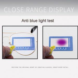 Testiranje filtra modre svetlobe, očala za računalnik