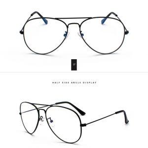 Očala za računanik aviator črna